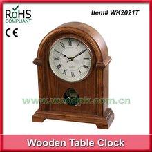 Fad style home decor item timber table clocks