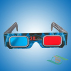 Paper 3D Glasses making the blue film movie