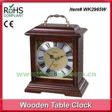 Promotional item home decorate wooden desktop clock handle