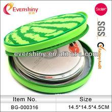 waterproof fruit shape custom round dvd bags dvd wallets