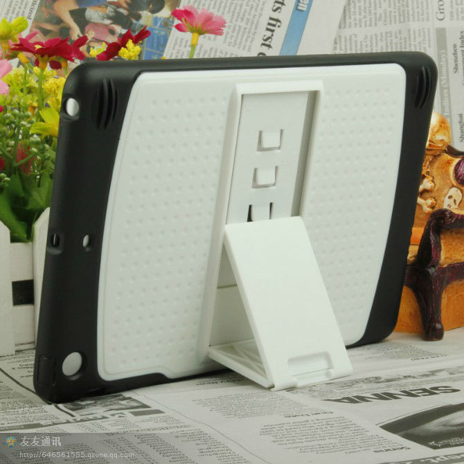 for ipad mini plastic cover with back stand