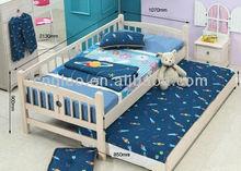 children single wooden bed