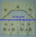 patrón de la flor de la cortina de la cocina