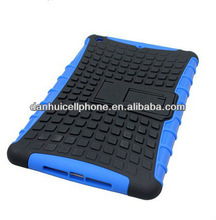 pc tpu blocks case with stand black blue for ipad mini