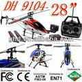 Cheval double dh modèle 9104 3.5ch 28 inches metal gyro hélicoptère rc& bleu couleur rouge