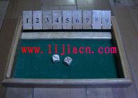 wooden shut the box game