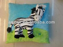 soft cartoon zebra cushion blue square cushion with soft toys stuffed animal shaped pillow toy
