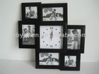 Combination picture frame photo frame With Clock