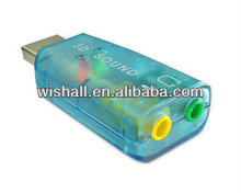 External USB 2.0 to 3D Virtual Audio Sound Card Adapter Converter 5.1 CH