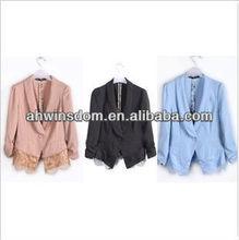 ladies korean fashion elegant clothes with lace