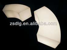 led bench curved stool/led curved bar chair