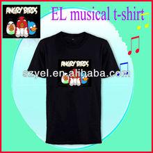 2012 v-neck lucky birds design el musical t-shirt