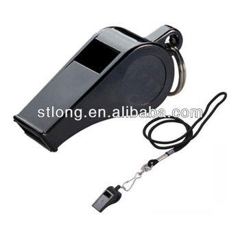 Basic plastic whistle with split ring & neck lanyard(FR-200)