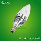 2012 new design top sale 3W super bright led candle light 3W E27/E14 (CE & RoHS)