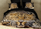 3D Printed+ Fashions Cotton black leopard animal pattern + comforter bed in a bag sets