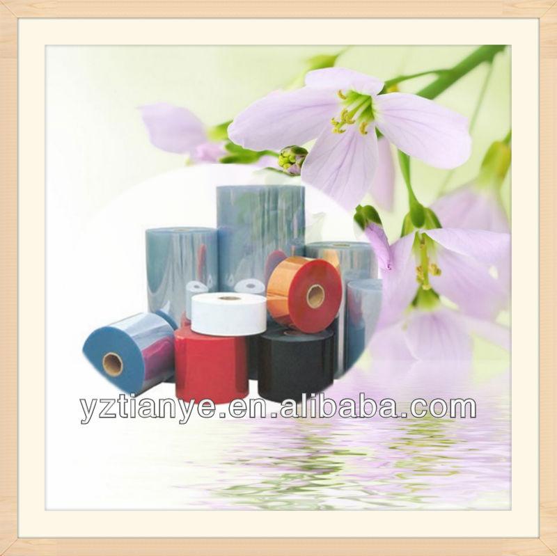 Clear PVC sheet with rigid plastic film in roll