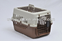 Traveling pet cage for dogs with a lock ,made of plastic & wire