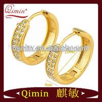 gold crystal earring xuping jewelry 22K