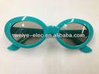 Peak season selling! 3D passive polarization kids glasses 3d plastic polarizer children design 1.0 mm thickness
