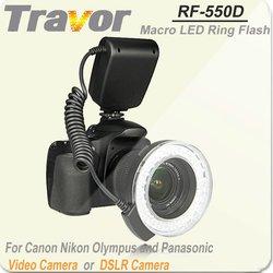 New hot self-designed macro ring flash for Nikon, Canon, Olympus and panasonic, Travor RF-550D Digital Camera Flash