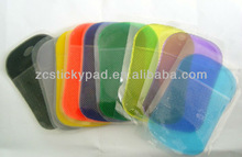 Big size sticky pad, 19*14cm size anti slip pad, GPS pad, mobile phone mat, car mat, PDA mat