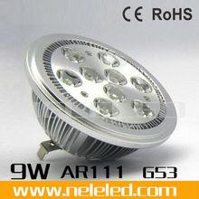 220v or 12v 9w ar111 g53,High Quality,9w ar111 g53, qr111 ar111 9w g53 led spotlight