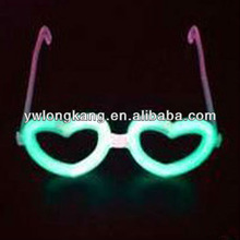 fashion fluorescence Fluorescent glasses, heart-shaped concert festival with light stick glow stick