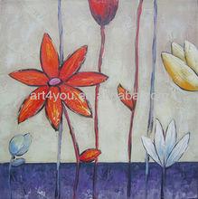 carton fair flower canvas painting art (24549)