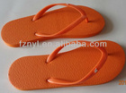 Kids or lady orange rubber thong plain slipper
