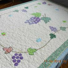 150X200cm Applique Grape Patchwork Quilt XDN013