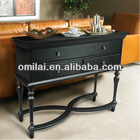 modern black console table made of solid wood