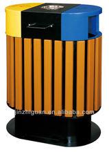 outdoor wooden waste bin(A-105)