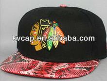 Guangzhou factory Leopard flat brim snapback caps