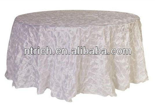 Molinete de lujo pellizcado manteles tafetán para la boda, la fiesta y banquete