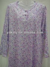 100% Polyester Fashion Lady's Nightdress