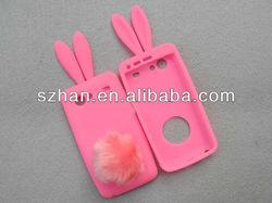 Cute Colorful Bunny Rabbit Silicone Case cover for Samsung Galaxy S Advance i9070