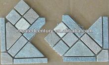 Slate mosaic wall tile corner