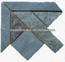 Mosiac wall tile corner
