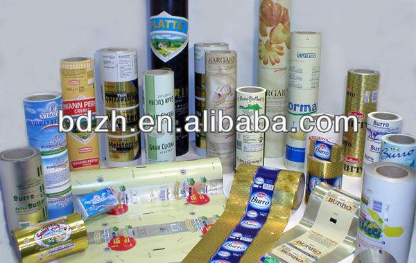 Stratifié et imprimé beurre, Margarine emballage film