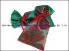 Sumptuous satin & lace & velvet drawstring bag