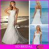 Trumpet Mermaid Slight Curve Dropped Waist Appliqued Organza Wedding Dress with Lace Bolero Jacket