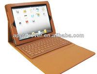 For New iPad iPad3 ipad 4 Bluetooth Keyboard Leather Case