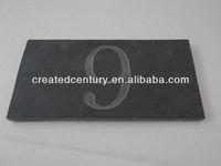 Slate house door plate number