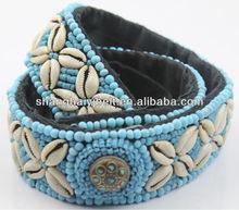 slight blue handmade seeds beads shell belt for ladies YJ-HY0147