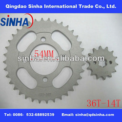Hot sale C100 36T/14T motorcycle sprocket
