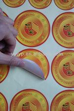 venta caliente de promoción impreso etiqueta de papel