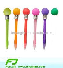 beautiful plastic light ball pen(many colors)