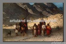 Handmade oriental arab desert painting