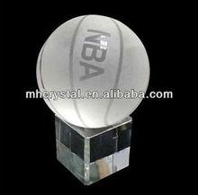 Etche glass crystal BASKETBALL MH-Q0089