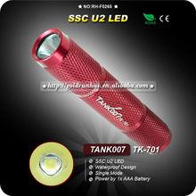 TANK007 TK701 Red Keychain Torchlight U2 LED